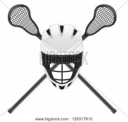 lacrosse equipment vector illustration isolated on white background