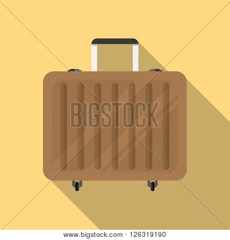 Travel Suitcase icon vector Suitcase icon illustration.
