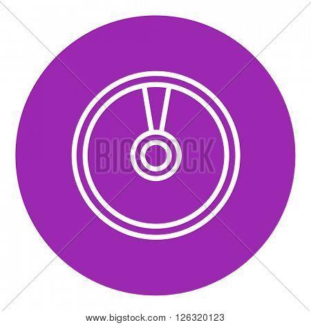 Disc line icon.