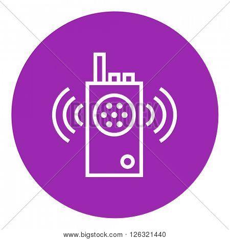 Radio set line icon.