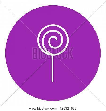 Spiral lollipop line icon.