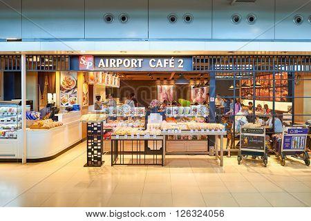 BANGKOK, THAILAND - JUNE 19, 2015: inside of Suvarnabhumi Airport. Suvarnabhumi Airport is one of two international airports serving Bangkok