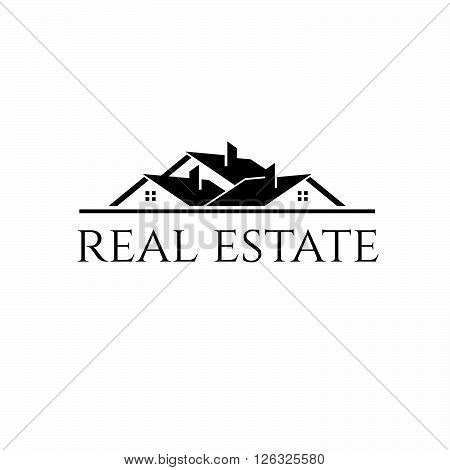 House roofs for real estate business. Concept of graphic clip art work
