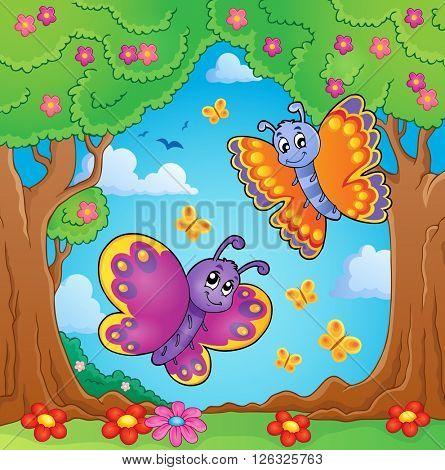 Happy butterflies theme image 8 - eps10 vector illustration.