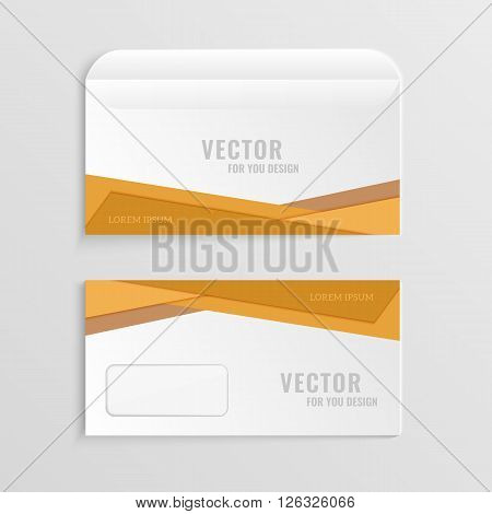 Illustration with the image of several options business envelopes.Used for further design with your logo.