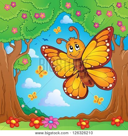 Happy butterfly topic image 4 - eps10 vector illustration.