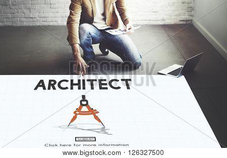Architect Architecture Design Infrastructure Construction Concept
