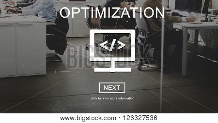 Optimization Connection SEO Digital Computer Concept