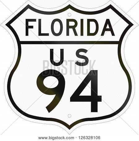 Historic Florida Highway Route Shield From 1948 Used In The Us
