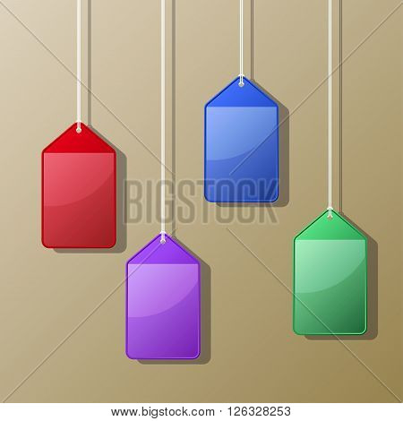 Colorful Hanging Card Case Vector Illustration EPS10