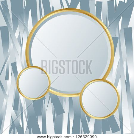 Silver textured backdrop. Abstract glowing shiny background composed of silver stripes. Silver glowing texture. Silver elements. Place for your text or message. Vector illustration