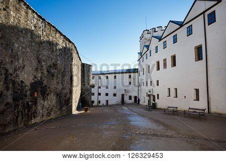 Street of the Hohensalzburg Castle in Salzburg Austria