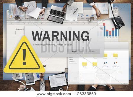 Warning Accident Caution Dangerous Help Concept