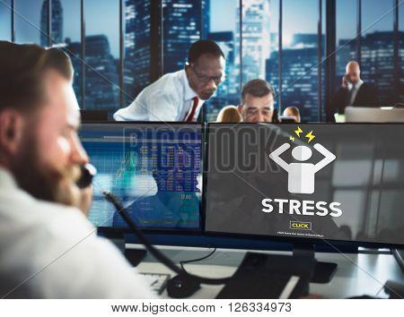 Stress Failure Depression Pressure Panic Concept