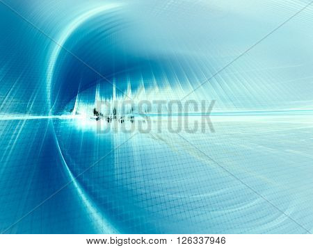 Abstract background element. Fractal graphics series. Blue colors.
