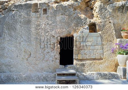 Jerusalem Garden Tomb in Jerusalem one of two sites proposed as the place of Jesus burial in Israel