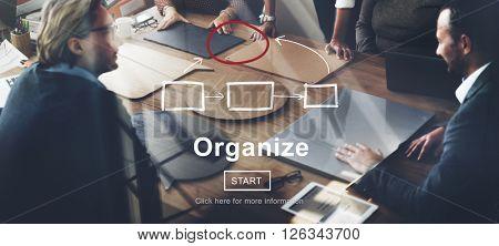 Corporate Organization Chart Company Concept
