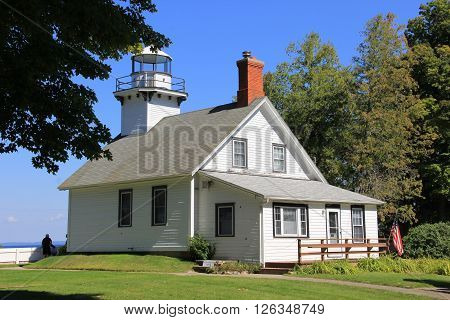 Old Mission Lighthouse near Traverse City, Michigan.
