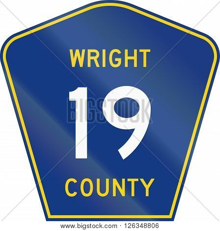 Minnesota County-designated Highway Shield - Wright County