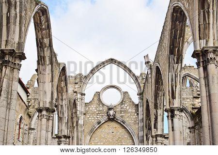 Igreja do Carmo in Lisbon in Portugal EU