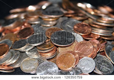 Money pile representing the struggle in america