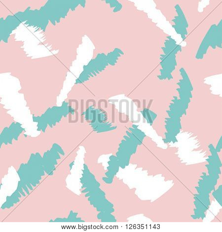 Brush stroke seamless pattern. Summer, springpink and blue texture for fabric, prints, cloth, paper and textile