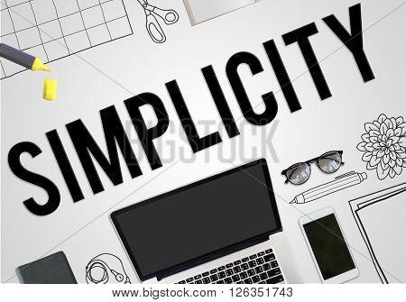 Simplicity Minimal Simple Effortleness Modern Concept