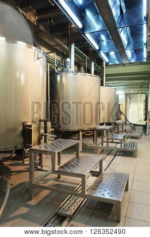 Shop Brewery. Boilers For Boiling Wort.