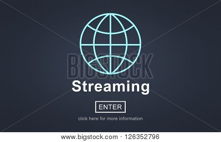 Streaming Data Internet Homepage Links Concept
