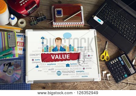 Value Concept For Business, Consulting, Finance