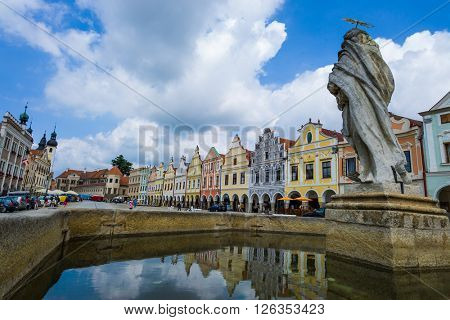 czech republic, telc, town square