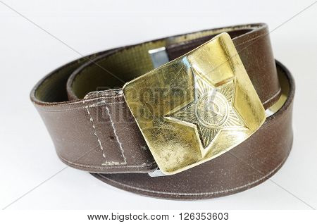 Army belt.Previously these belts worn by soldiers of the Soviet army.