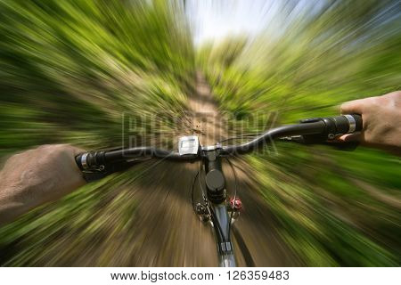 Downhill mountain biking is that sees the rider during the downhill.