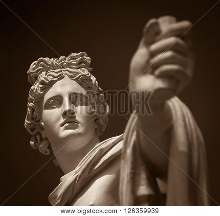 Moscow, Russia - February 16, 2016: Apollo Belvedere statue in Pushkin Museum