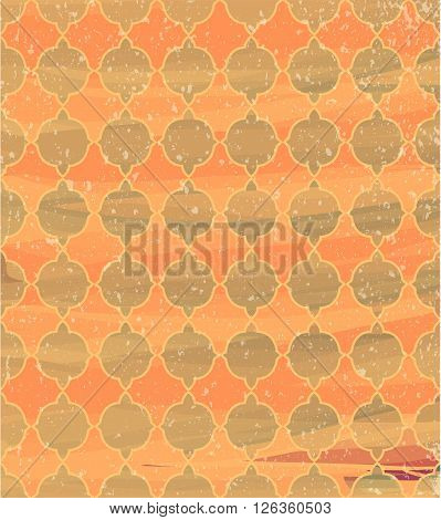 Abstract watercolors background with ornament. Illustration 10 version