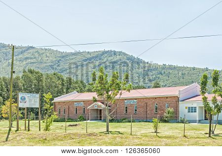 WOODLANDS SOUTH AFRICA - FEBRUARY 28 2016: The Pentecostal Protestant Church Bethel in Woodlands in the Eastern Cape Province