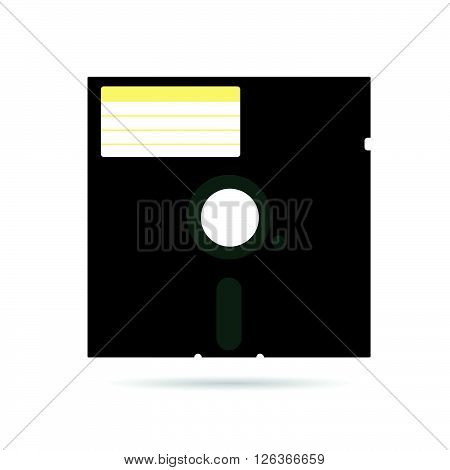 floppy disk icon art illustration in colorful