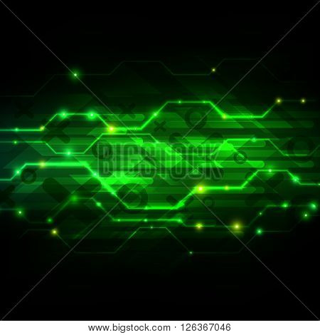 Digital technology background, Futuristic Interface, Abstract vector illustration EPS10