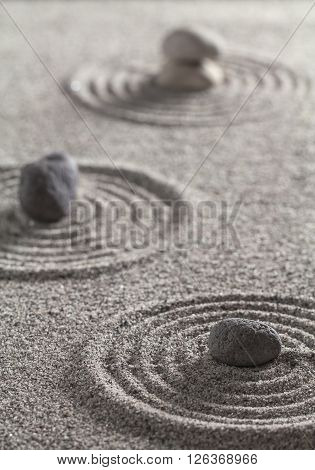 Stones And Circles In The Sand.