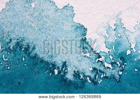 Super Macro Blue Watercolor Textures 6