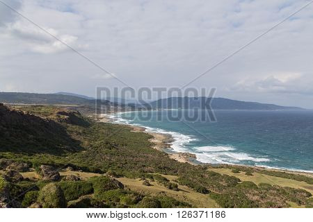 Landscape and coastline in Kenting National Park in South Taiwan