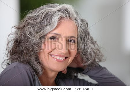 Portrait of a senior woman smiling