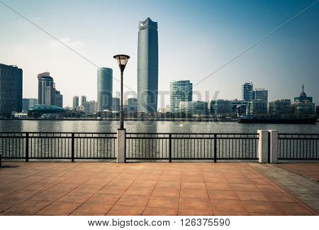 waterfront skyline