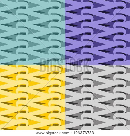 Netting Seamless Pattern. Vite Abstract Background. Set Interlocking Texture. Vintage Ornament For F