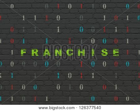 Finance concept: Franchise on wall background