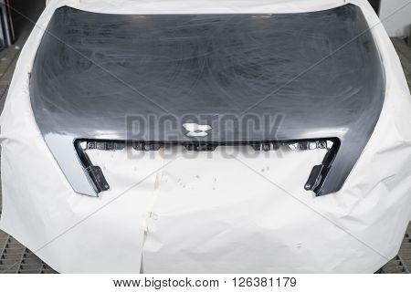 Auto body repair series : Masking before repaint