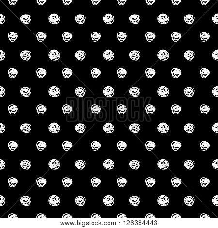 Black and white polka dots pattern. Stylish polka dot.