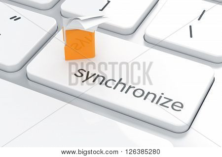 Synchronization Yellow Computer Folder Concept Computer Keyboard
