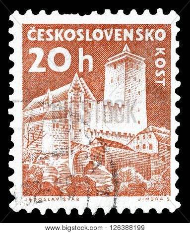 CZECHOSLOVAKIA - CIRCA 1960 : Cancelled postage stamp printed by Czechoslovakia, that shows Kost castle.