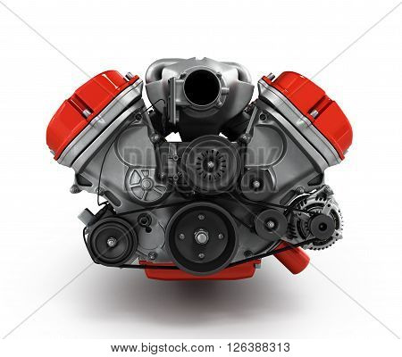 Engine Gearbox Isolated On A White Background 3D Render